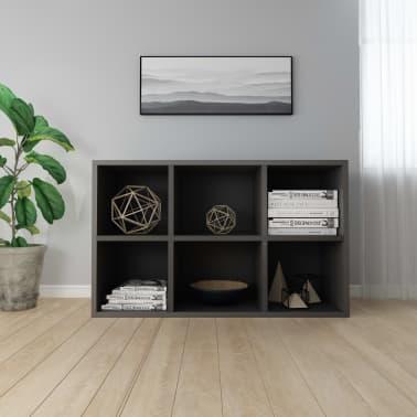 "vidaXL Book Cabinet/Sideboard Gray 19.6""x9.8""x31.4"" Chipboard[4/12]"