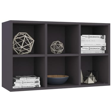 "vidaXL Book Cabinet/Sideboard Gray 19.6""x9.8""x31.4"" Chipboard[5/12]"