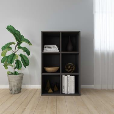 "vidaXL Book Cabinet/Sideboard Gray 19.6""x9.8""x31.4"" Chipboard[1/12]"