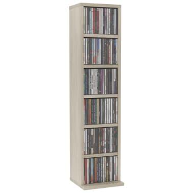 vidaXL Spintelė kompaktiniams diskams, son. ąž. sp., 21x16x88cm, MDP[3/6]