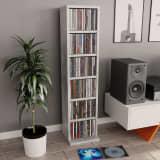 vidaXL Skříňka na CD betonově šedá 21 x 20 x 88 cm dřevotříska