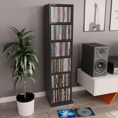 vidaXL Spintelė kompaktiniams diskams, juodos sp., 21x16x88cm, MDP[1/6]