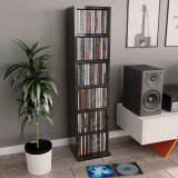 vidaXL Skříňka na CD šedá s vysokým leskem 21 x 20 x 88 cm dřevotříska