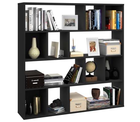 "vidaXL Room Divider/Book Cabinet Black 43.3""x9.4""x43.3"" Chipboard[4/7]"