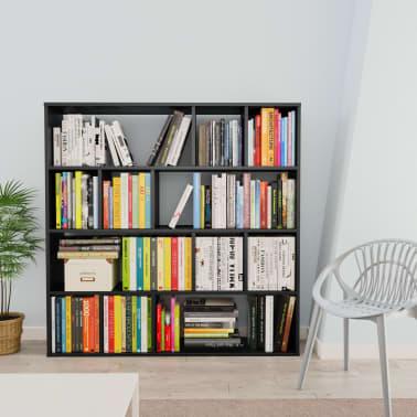 "vidaXL Room Divider/Book Cabinet Black 43.3""x9.4""x43.3"" Chipboard[3/7]"