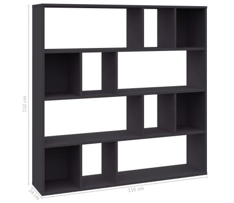 "vidaXL Room Divider/Book Cabinet Gray 43.3""x9.4""x43.3"" Chipboard"