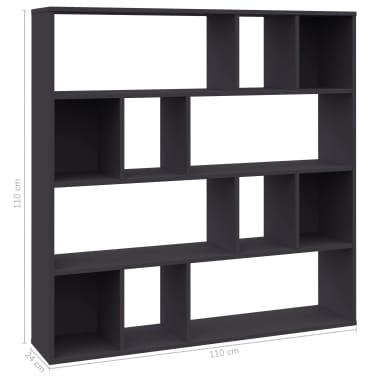 "vidaXL Room Divider/Book Cabinet Gray 43.3""x9.4""x43.3"" Chipboard[2/7]"