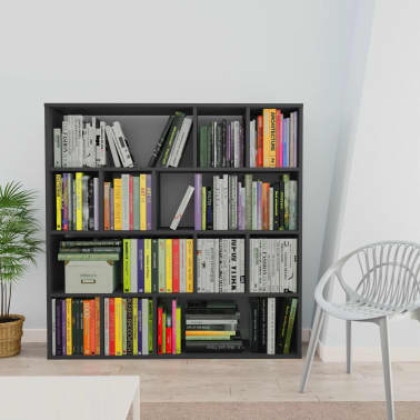 "vidaXL Room Divider/Book Cabinet Gray 43.3""x9.4""x43.3"" Chipboard[3/7]"