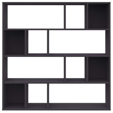 "vidaXL Room Divider/Book Cabinet Gray 43.3""x9.4""x43.3"" Chipboard[5/7]"