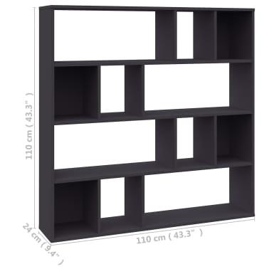 "vidaXL Room Divider/Book Cabinet Gray 43.3""x9.4""x43.3"" Chipboard[7/7]"