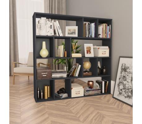 "vidaXL Room Divider/Book Cabinet Gray 43.3""x9.4""x43.3"" Chipboard[1/7]"