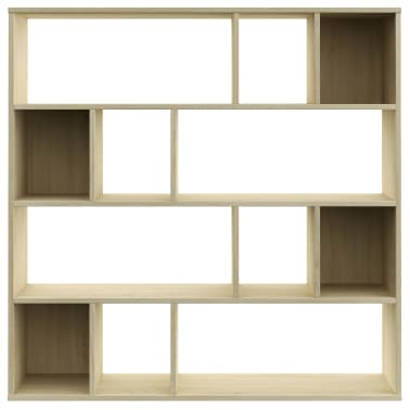 "vidaXL Room Divider/Book Cabinet Sonoma Oak 43.3""x9.4""x43.3"" Chipboard[5/7]"