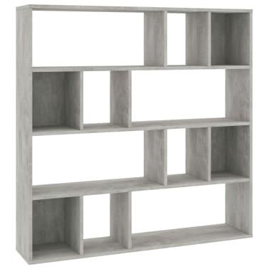 "vidaXL Room Divider/Book Cabinet Concrete Gray 43.3""x9.4""x43.3"" Chipboard[2/7]"