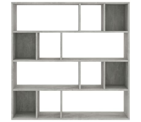 "vidaXL Room Divider/Book Cabinet Concrete Gray 43.3""x9.4""x43.3"" Chipboard[5/7]"