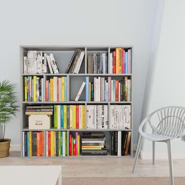 "vidaXL Room Divider/Book Cabinet Concrete Gray 43.3""x9.4""x43.3"" Chipboard[3/7]"