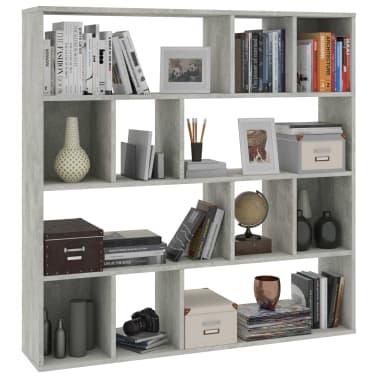 "vidaXL Room Divider/Book Cabinet Concrete Gray 43.3""x9.4""x43.3"" Chipboard[4/7]"