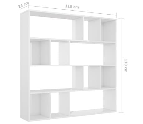 Vidaxl Raumteilerbücherregal Hochglanz Weiß 11024110 Cm Spanplatte