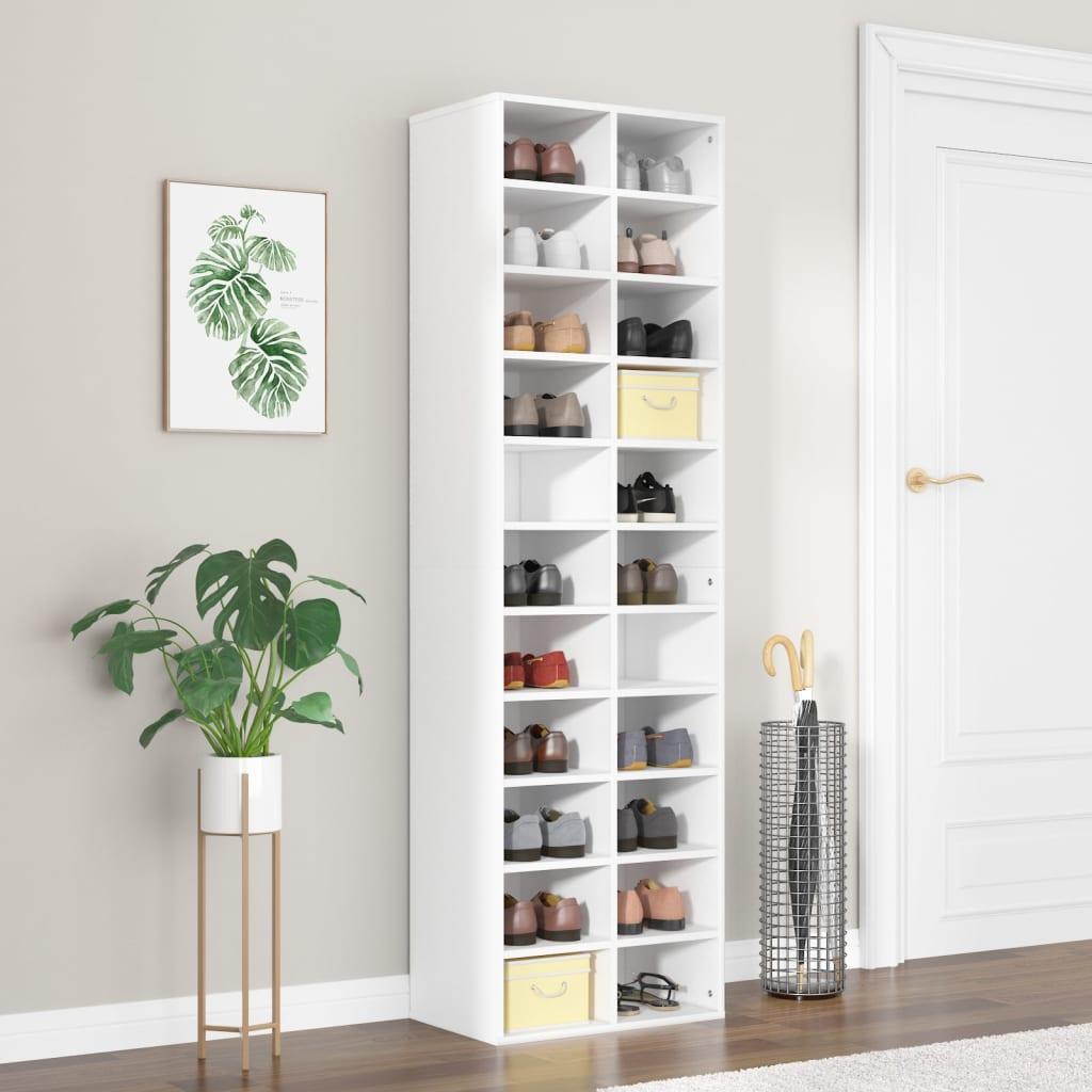 vidaXL Pantofar, alb, 54 x 34 x 183 cm, PAL vidaxl.ro
