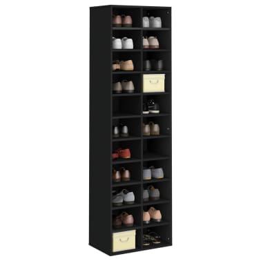 "vidaXL Shoe Cabinet Black 21.2""x13.3""x72"" Chipboard[3/6]"