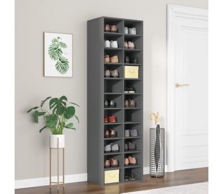 "vidaXL Shoe Cabinet Gray 21.2""x13.3""x72"" Chipboard[1/6]"