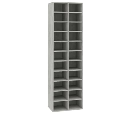 "vidaXL Shoe Cabinet Concrete Gray 21.2""x13.3""x72"" Chipboard[2/6]"