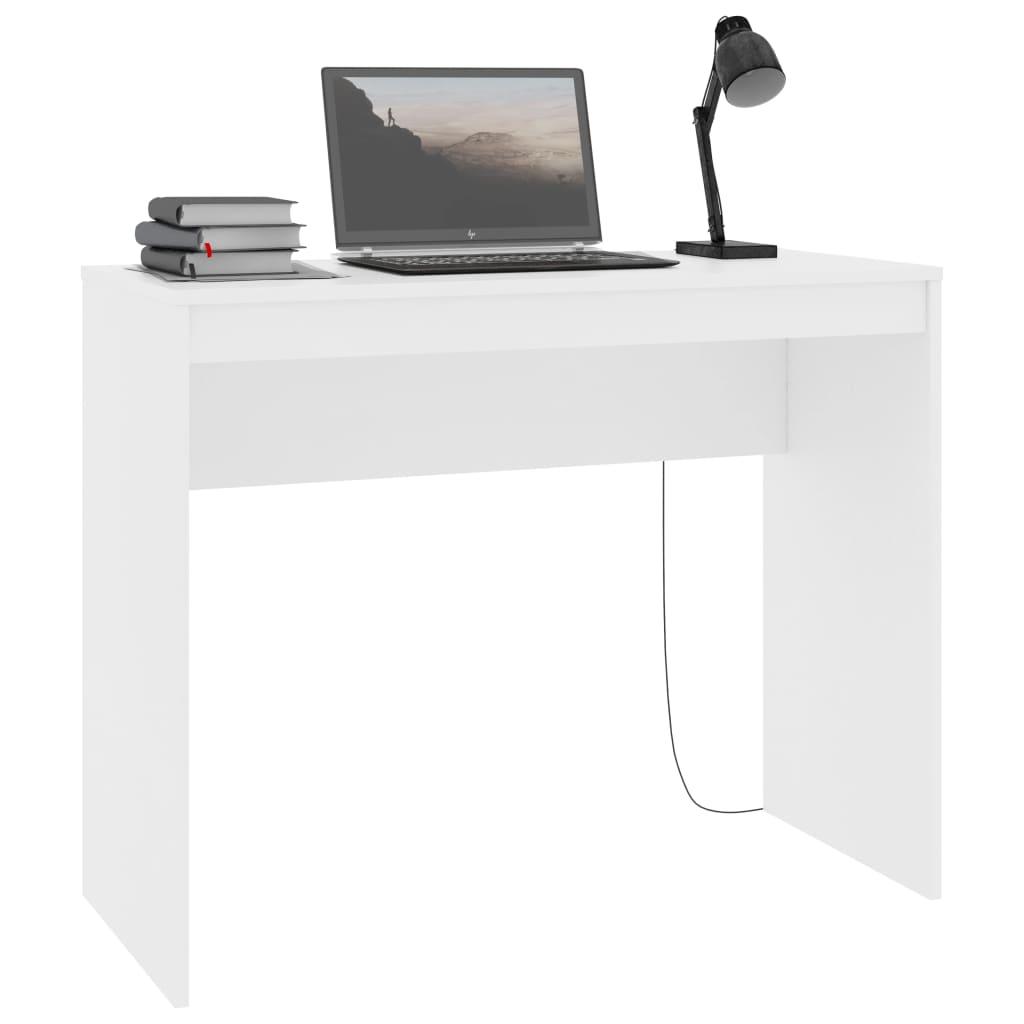 vidaXL Bureau 90x40x72 cm spaanplaat wit