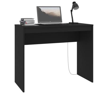 """vidaXL Desk Black 35.4""""x15.7""""x28.3"""" Chipboard[3/6]"""