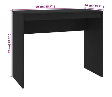 vidaXL Desk Black 90x40x72 cm Chipboard[6/6]