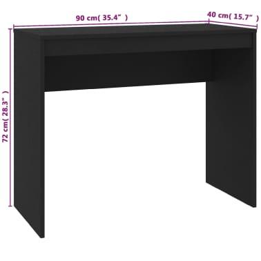 """vidaXL Desk Black 35.4""""x15.7""""x28.3"""" Chipboard[6/6]"""
