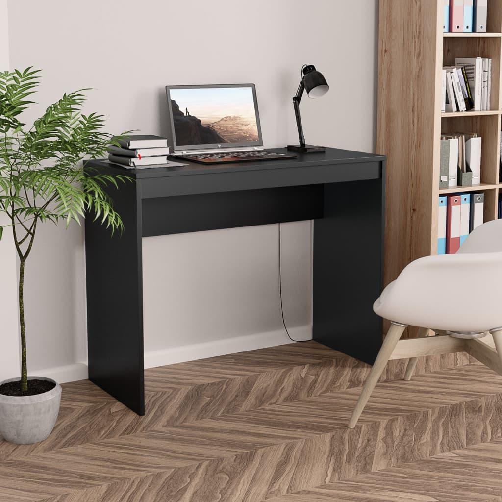 Psací stůl černý 90 x 40 x 72 cm dřevotříska