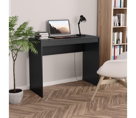 """vidaXL Desk Black 35.4""""x15.7""""x28.3"""" Chipboard[1/6]"""