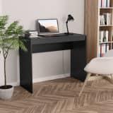"""vidaXL Desk Black 35.4""""x15.7""""x28.3"""" Chipboard"""