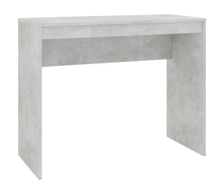 "vidaXL Desk Concrete Gray 35.4""x15.7""x28.3"" Chipboard"