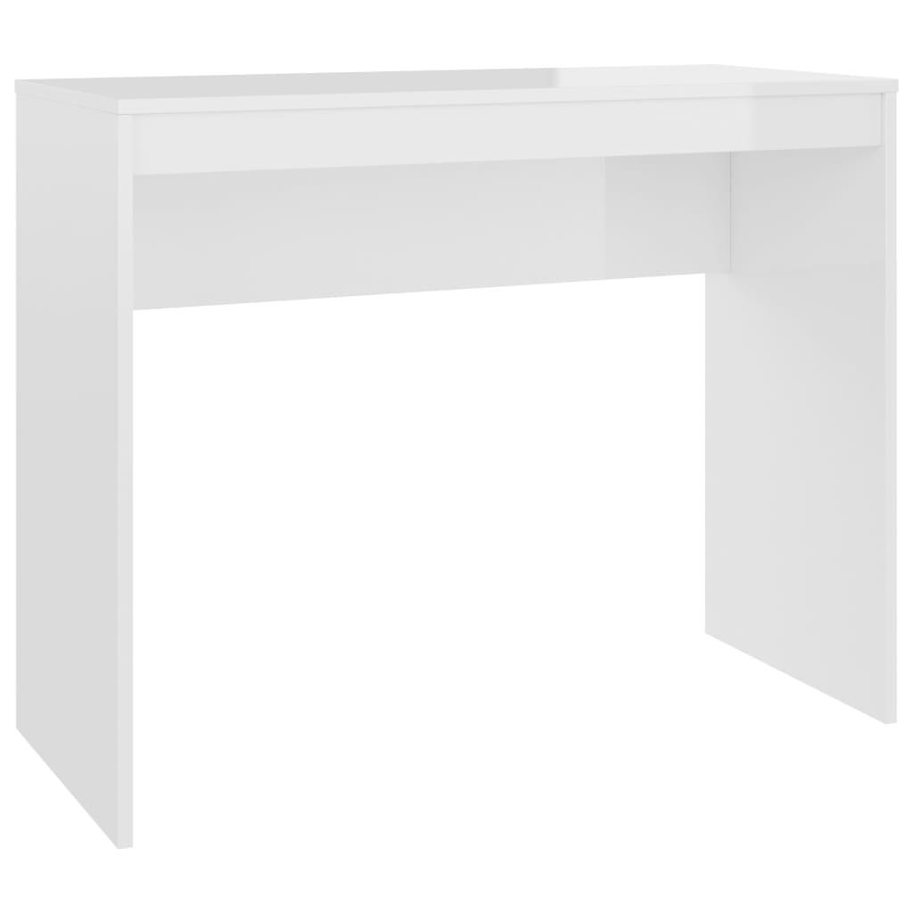 vidaXL Γραφείο Γυαλιστερό Λευκό 90 x 40 x 72 εκ. από Μοριοσανίδα