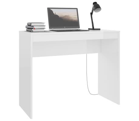 vidaXL Bureau Blanc brillant 90 x 40 x 72 cm Aggloméré[3/6]