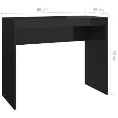 vidaXL Desk High Gloss Black 90x40x72 cm Chipboard[6/6]