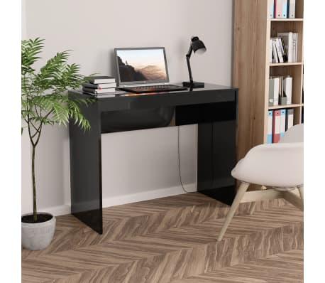 vidaXL Desk High Gloss Black 90x40x72 cm Chipboard[1/6]