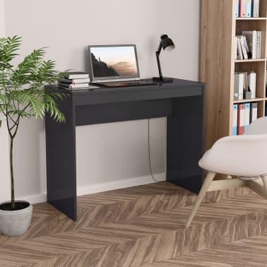 vidaXL Desk High Gloss Grey 90x40x72 cm Chipboard[1/6]