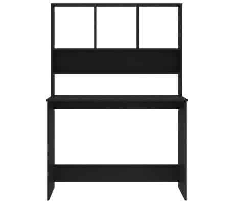 "vidaXL Desk with Shelves Black 43.3""x17.7""x61.8"" Chipboard[4/6]"