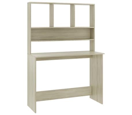 """vidaXL Desk with Shelves Sonoma Oak 43.3""""x17.7""""x61.8"""" Chipboard"""