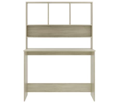 vidaXL Desk with Shelves Sonoma Oak 110x45x157 cm Chipboard[4/6]