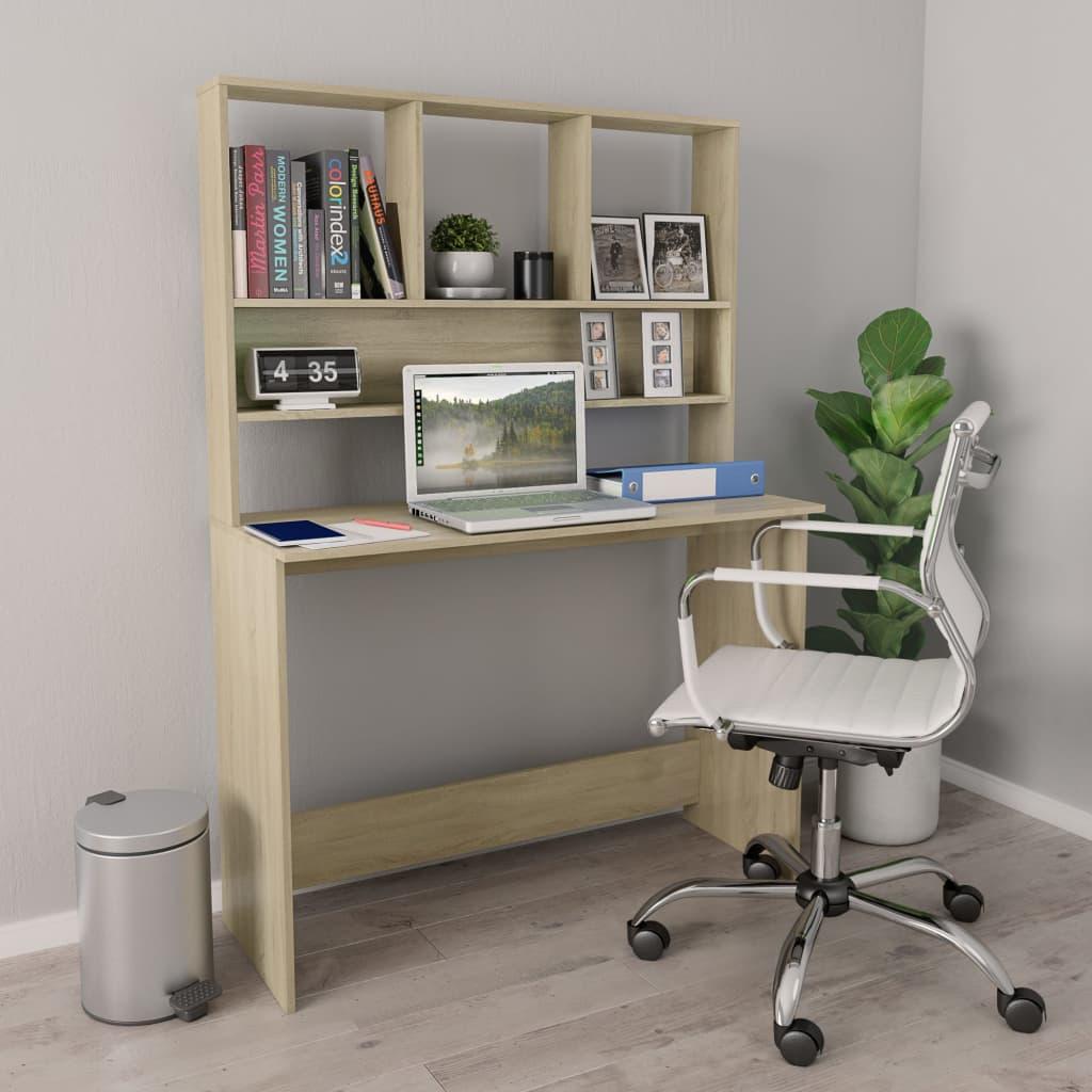 Psací stůl s policemi dub sonoma 110 x 45 x 157 cm dřevotříska