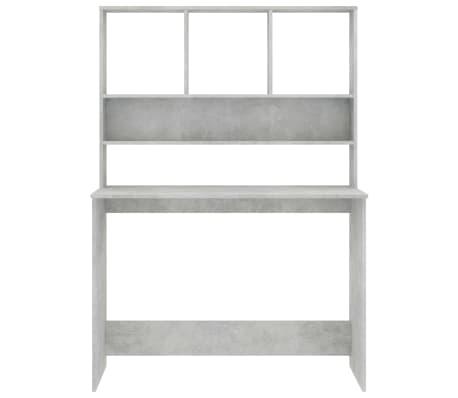 vidaXL Desk with Shelves Concrete Grey 110x45x157 cm Chipboard[4/6]