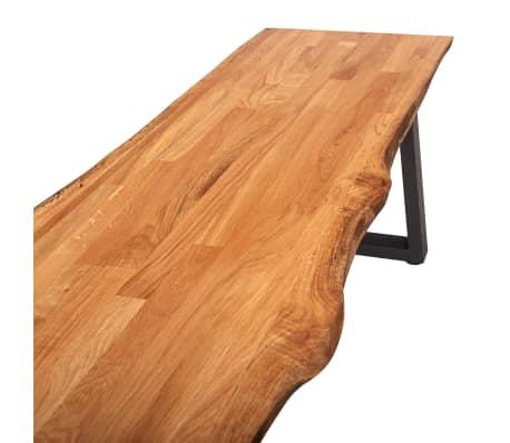 Amazing Vidaxl Bench 160 Cm Natural Solid Oak Wood Spiritservingveterans Wood Chair Design Ideas Spiritservingveteransorg
