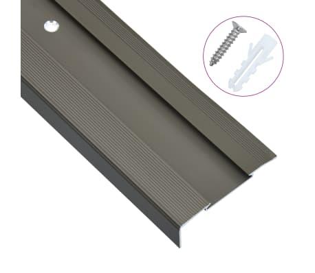 vidaXL Nez de marche Forme en L 15 pcs Aluminium 134 cm Marron