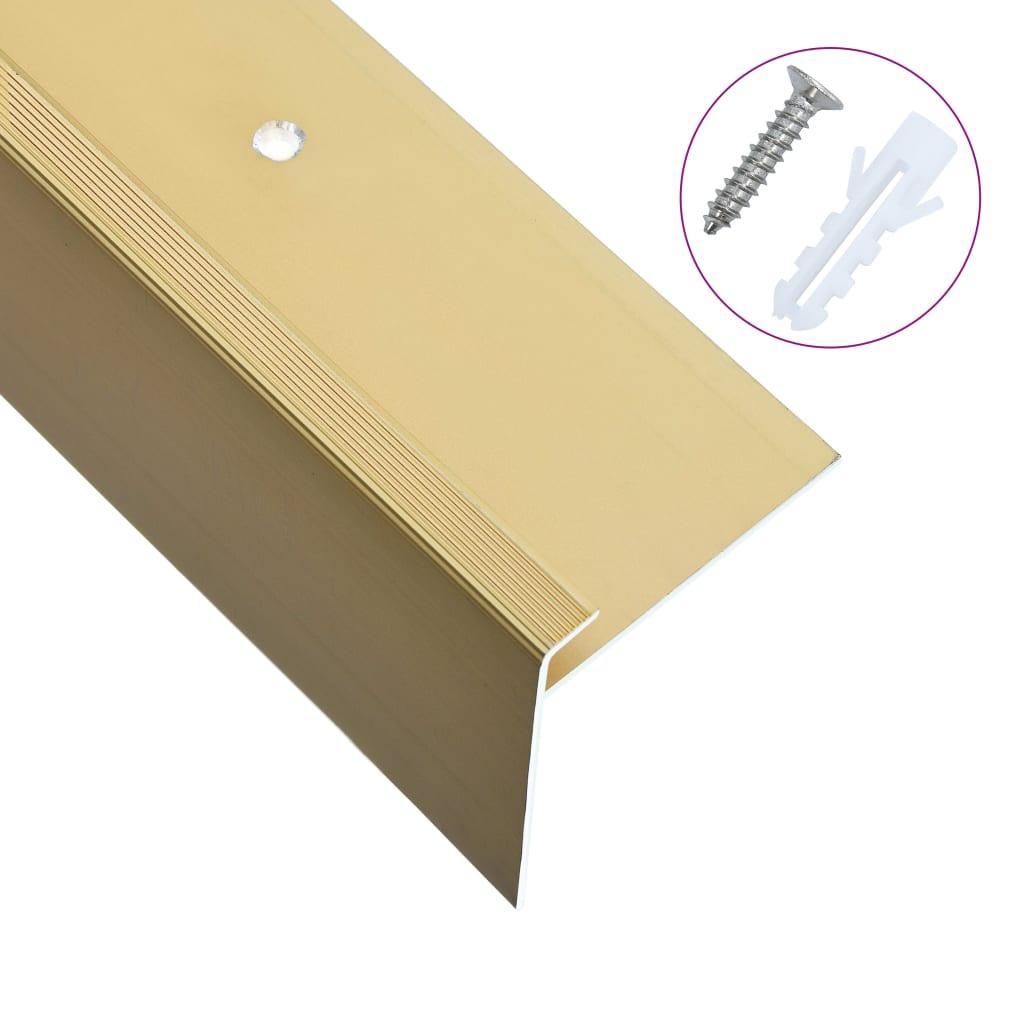 vidaXL Profile trepte în formă de F, 15 buc., auriu, 90 cm, aluminiu vidaxl.ro