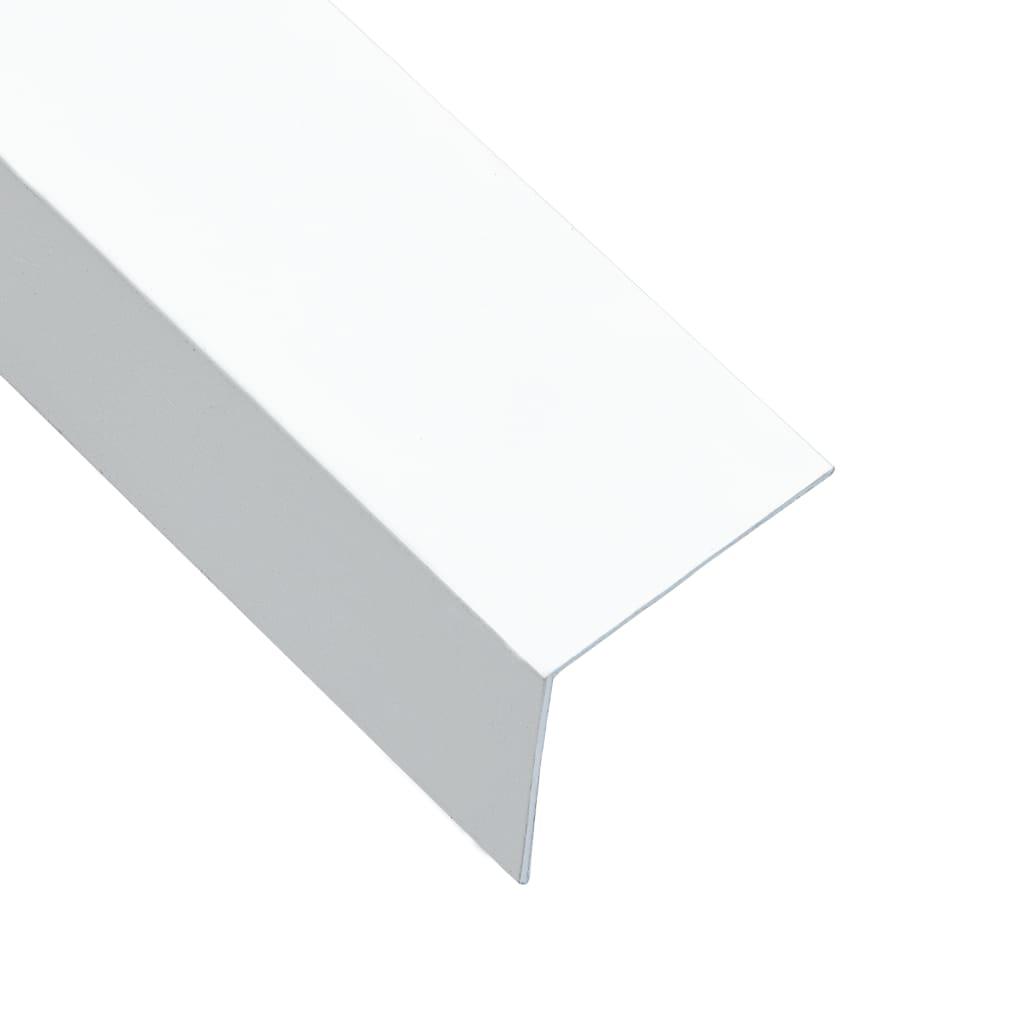 vidaXL Úhlové lišty ve tvaru L 90° 5 ks hliník bílé 170 cm 30 x 30 mm