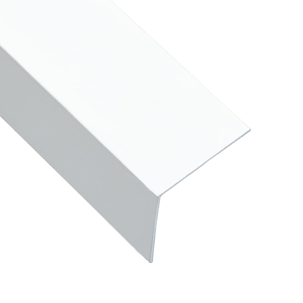 vidaXL Úhlové lišty ve tvaru L 90° 5 ks hliník bílé 170 cm 50 x 50 mm