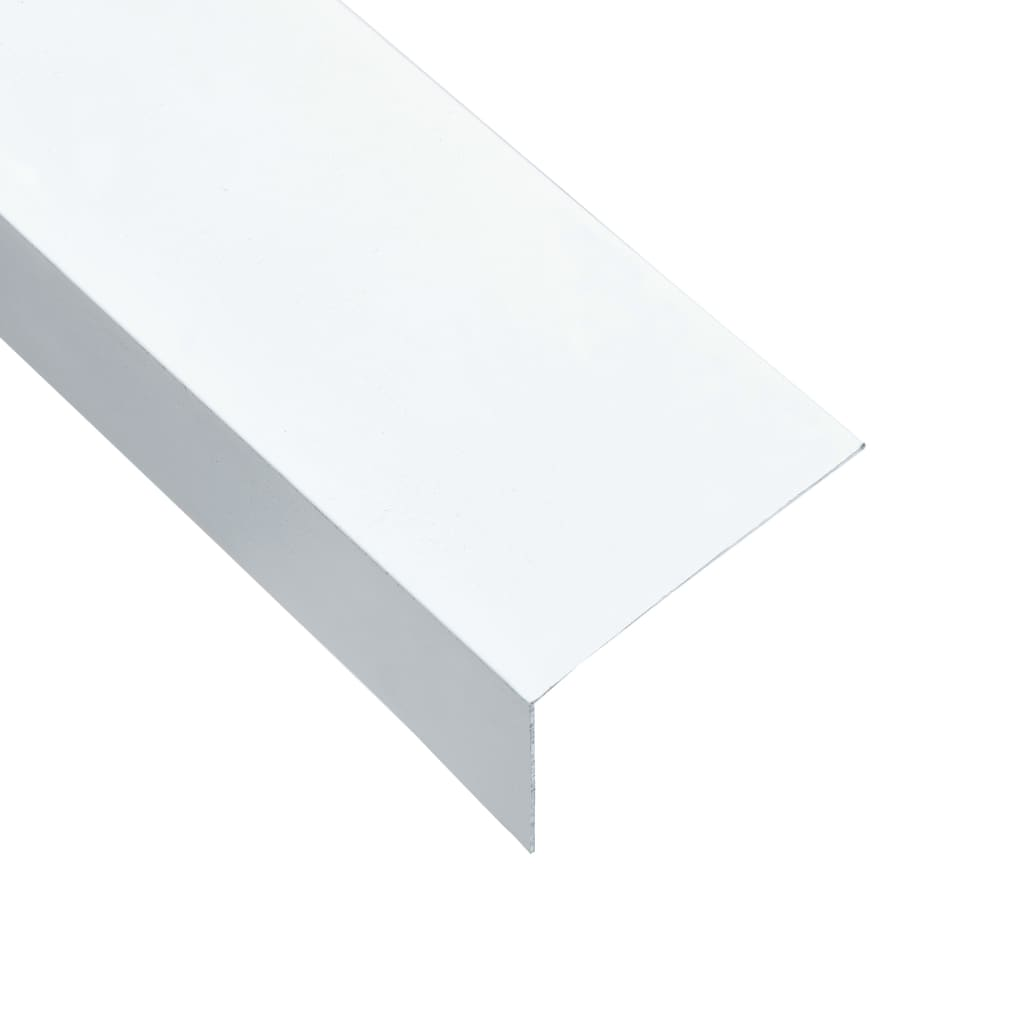 vidaXL Profile de colț în L 90° 5 buc. alb 170 cm 60x40 mm aluminiu vidaxl.ro