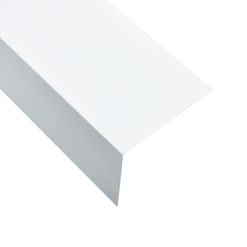 vidaXL Profile de colț în L 90° 5 buc. alb 170 cm 100x50 mm aluminiu imagine vidaxl.ro